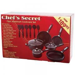15 Piece Aluminum Cookware Set