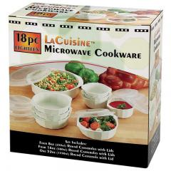 18 Piece Microwave Cookware Set